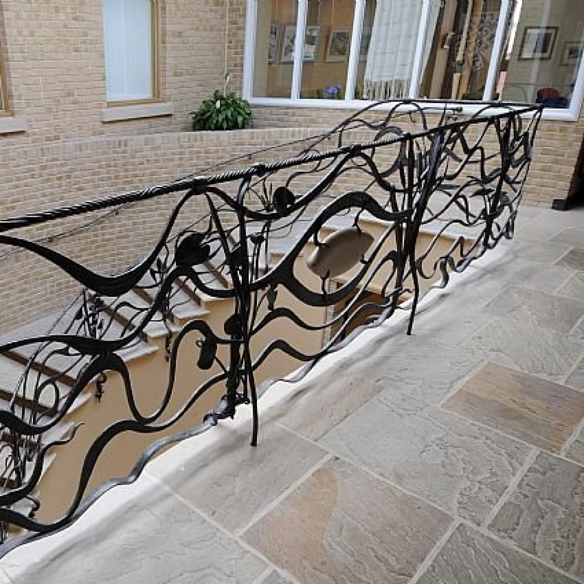 Contemporary Metalwork Balustrade