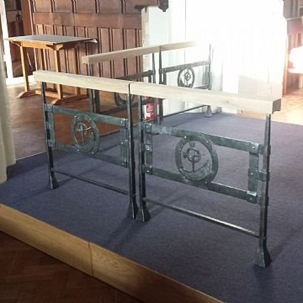 Contemporary Wrought Steel Altar & Communion Rail