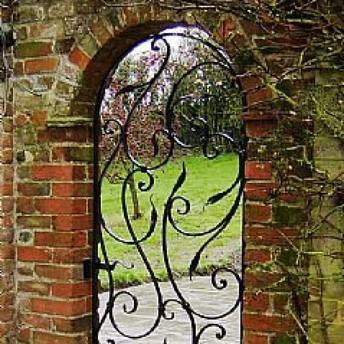 Contemporary Wrought Steel Gate