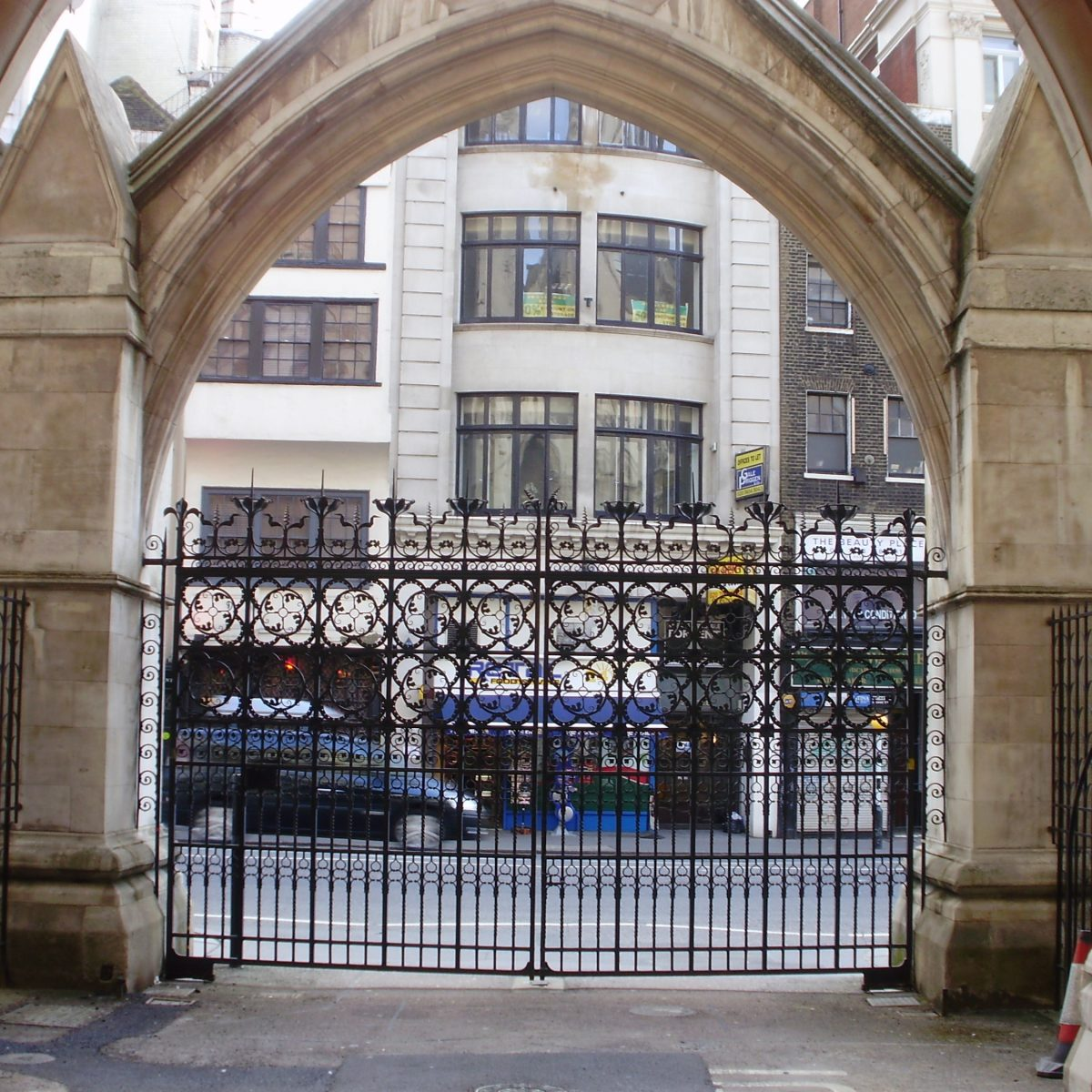 The Royal Courts of Justice heritage wrought iron gate restoration