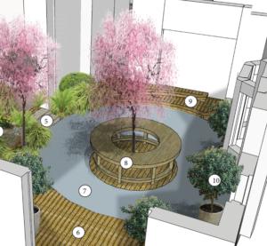 Bespoke Fabricated Landscape Sculpture 1