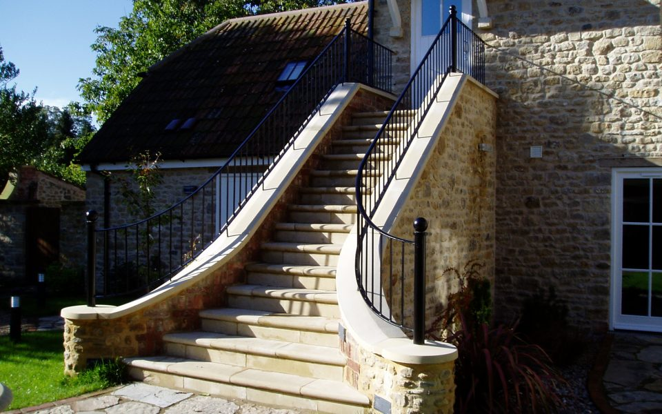 Finely Crafted Double Exterior Balustrade