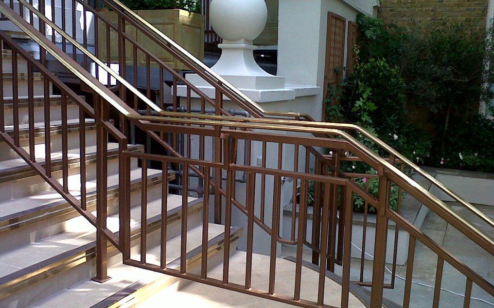 Langham Hotel, Middleton Gardens Brass Handrails