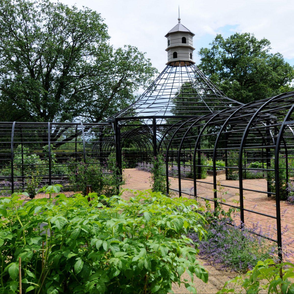 metal garden arbour