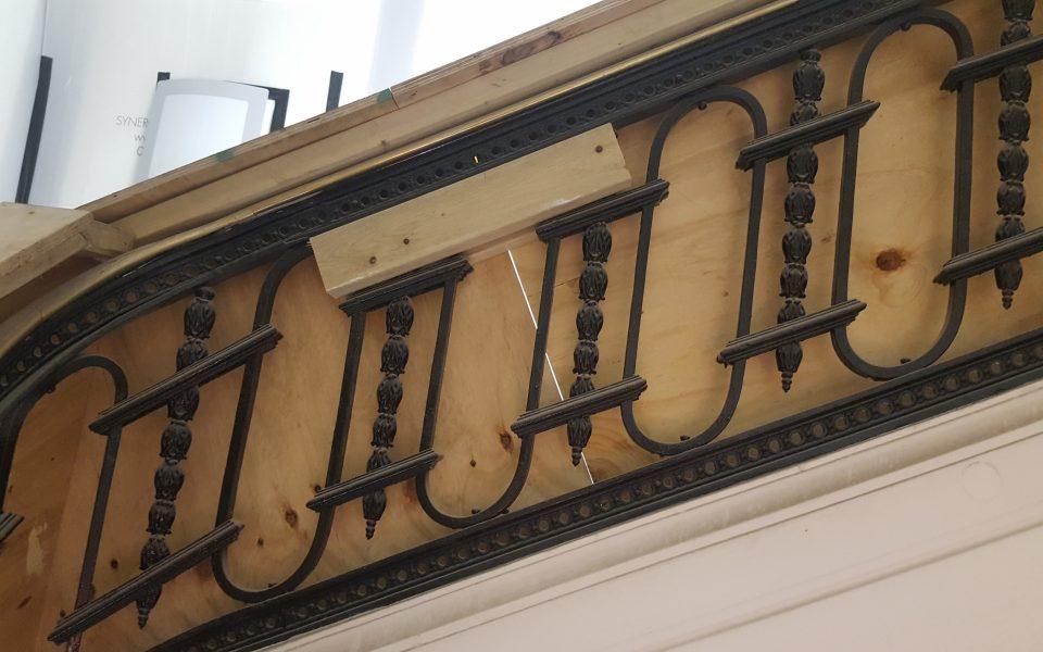 Restoration works for property in Berkeley Square